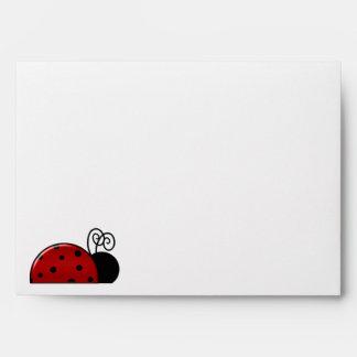 Birthday Lady Bug Envelope