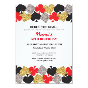 las vegas birthday invitations zazzle