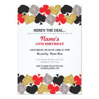 Birthday Las Vegas Casino Night Party Invitation