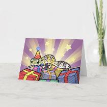 Birthday Leopard Gecko Card