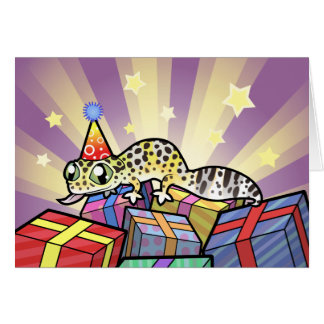 Birthday Leopard Gecko Greeting Card