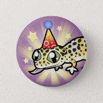 Birthday Leopard Gecko Pinback Button
