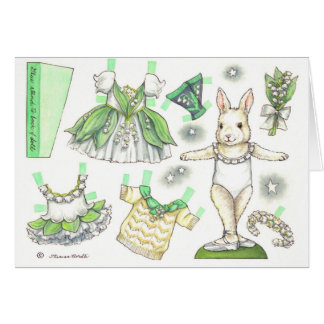 Birthday Lily of the Valley Paper Doll Card