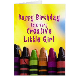 Birthday - Little Girl - Creative - Crayons Card