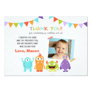 Birthday Little Monster Thank You Card