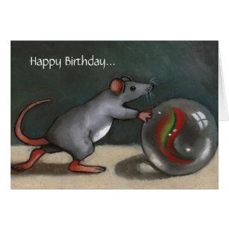 Birthday: Lost Marbles: Funny: Original Art Card
