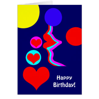 Birthday lovely lips kiss for the one you love. card