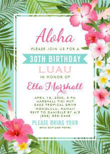 tropical invitations stationery zazzle