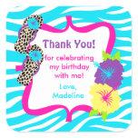 luau, birthday luau, favor tag, thank you,