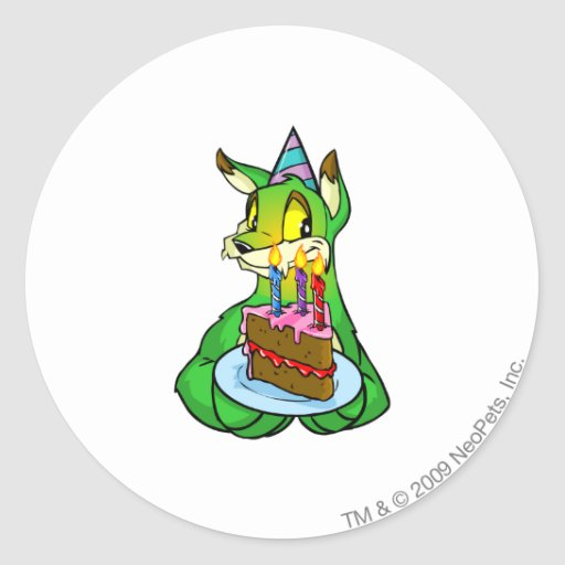 Birthday Lupe Classic Round Sticker