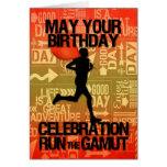Birthday Male Runner Sport Theme Card