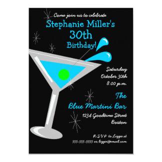 Birthday Martini Cocktail Invitation