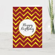 Birthday mens chevron pattern | Blank Card