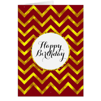 Birthday mens chevron pattern | Blank Card