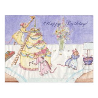 Birthday Mice Postcard