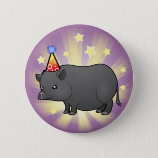 Birthday Miniature Pig Button