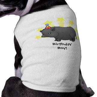Birthday Miniature Pig Doggie Shirt