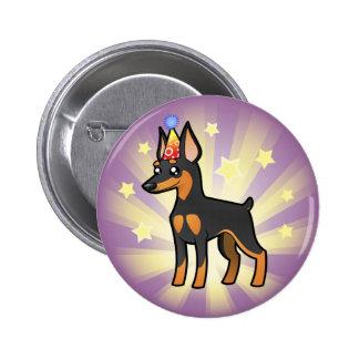 Birthday Miniature Pinscher / Manchester Terrier Pinback Button