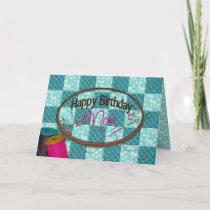 Birthday - Mom - Embroidery Card
