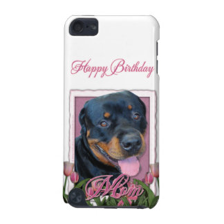 Birthday MOM - Pink Tulips - Rottweiler - Harley iPod Touch 5G Cover