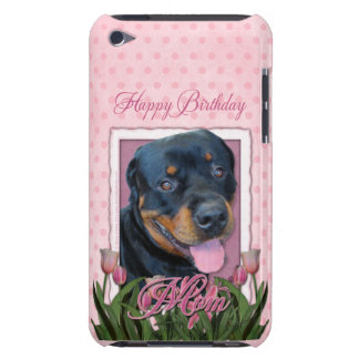 Birthday MOM - Pink Tulips - Rottweiler - Harley iPod Case-Mate Case
