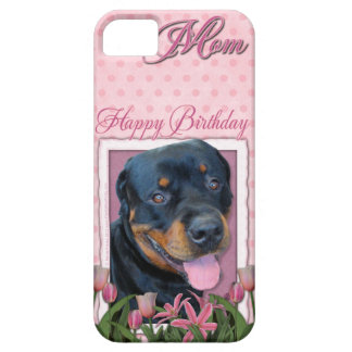Birthday MOM - Pink Tulips - Rottweiler - Harley iPhone 5 Case