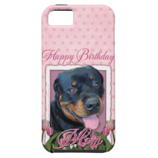 Birthday MOM - Pink Tulips - Rottweiler - Harley iPhone SE/5/5s Case