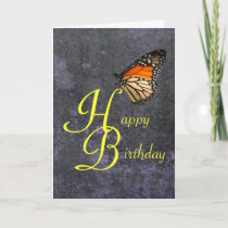 Birthday Monarch Butterfly Card