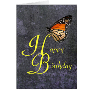 Birthday Monarch Butterfly Greeting Card