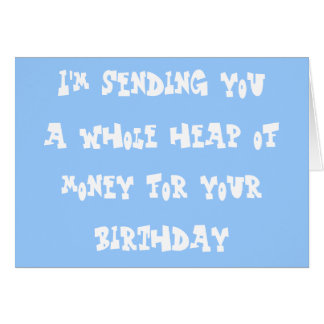 Birthday money greeting card