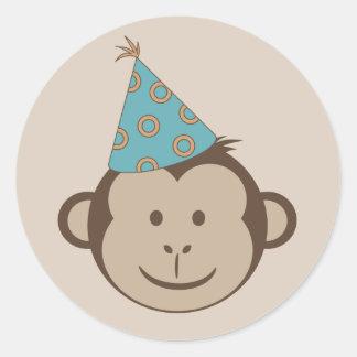 Birthday Monkey Goodie Bag Stickers