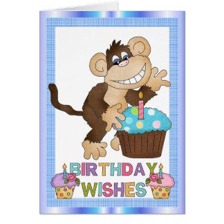 Birthday Monkey Greetin Card