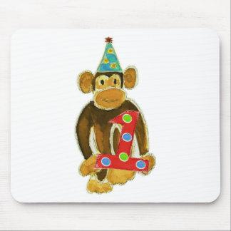 Birthday Monkey Holding One Mouse Pad