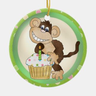 Birthday Monkey ornament