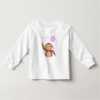 Birthday monkey pink balloon toddler t-shirt