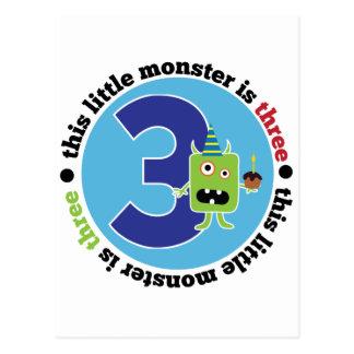 Birthday Monster 3 Postcard
