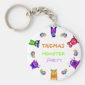 Birthday Monster Party Personalized Party Favors Keychain