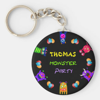 Birthday Monster Party Personalized Party FavorsBi Keychain