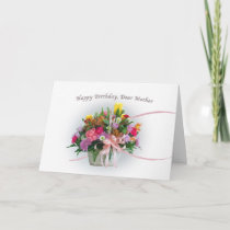 Birthday, Mother, Flowers in a Basket Card
