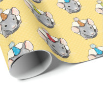 Birthday Mouse in Polka Dot Cheese Wrapping Paper