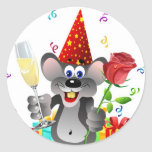 Birthday Mouse Sticker