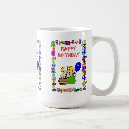 Birthday mug - Single candle and balloon