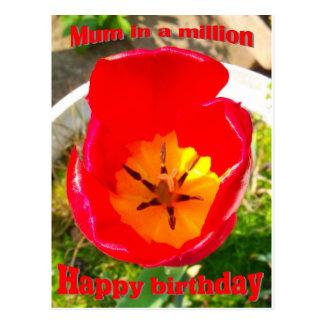 Birthday - mum postcard