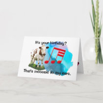 Birthday Musical Cow Card