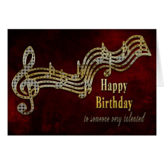 Birthday - Musical Notes Greeting Card