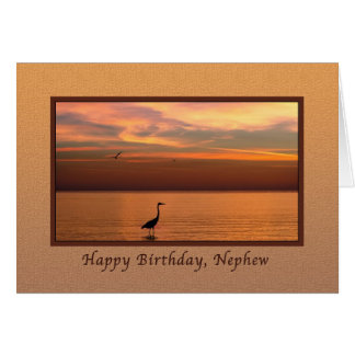 Birthday, Nephew, Ocean View at Sunset Card