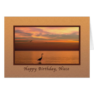 Birthday, Niece, Ocean View at Sunset Card