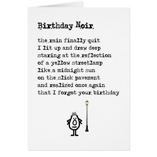 A Funny Belated Birthday Poem Greeting