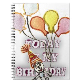 Birthday Spiral Note Book