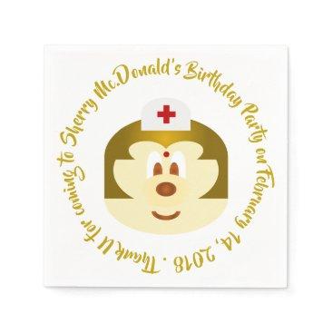 Wedding Themed Birthday - Nurse 鮑 鮑 Paper Napkin